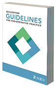 Thumbnail image of AORN's Guidelines for Perioperative Practice print ediition 2018